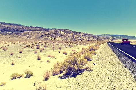 Vista da estrada, Parque Nacional do Vale da Morte Impressão fotográfica