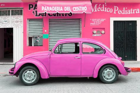 Collection Pink Volkswagen Beetle Car Photographic Print By Philippe Hugonnard At Allposters