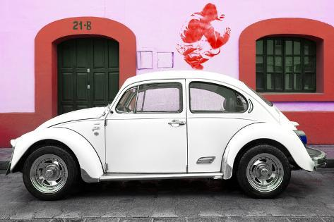 Collection White Vw Beetle Car And Red Graffiti Photographic Print By Philippe Hugonnard At Allposters