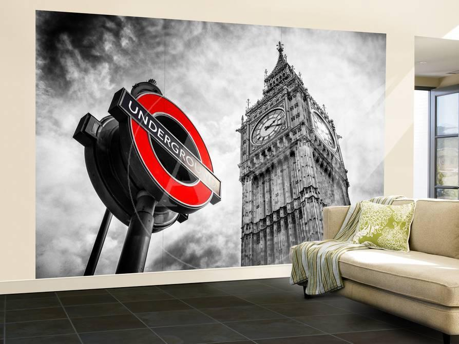 Wall Mural Westminster Underground Sign Subway Station Sign