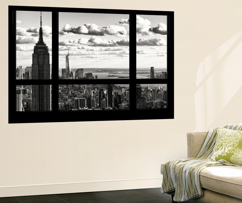 Wall Mural Window View Cityscape Of Manhattan With The Empire