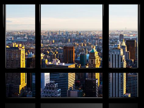 Window view special series landscape sunset manhattan for New window company
