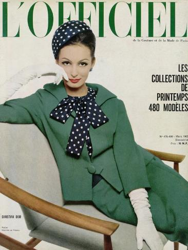 L'Officiel, March 1962 - Christian Dior Taidevedos