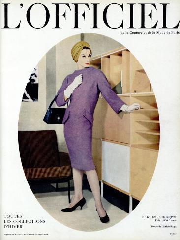 L'Officiel, October 1957 - Robe de Balenciaga Taidevedos