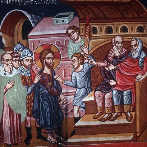 Jesus before the High Priest, 1494 Lámina giclée