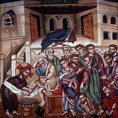 Jesus Washing the Disciples' Feet, 1494 Lámina giclée