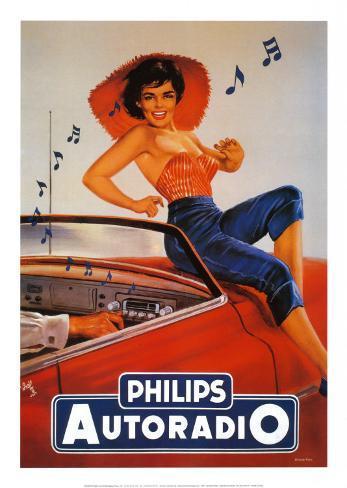 Philips Autoradio Art Print