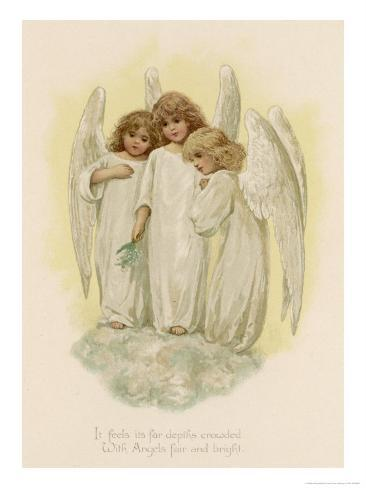 Three Young Angels Giclee Print