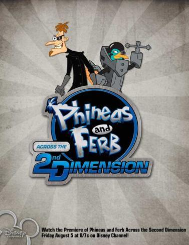 Phineas and Ferb: Across the Second Dimension Poster