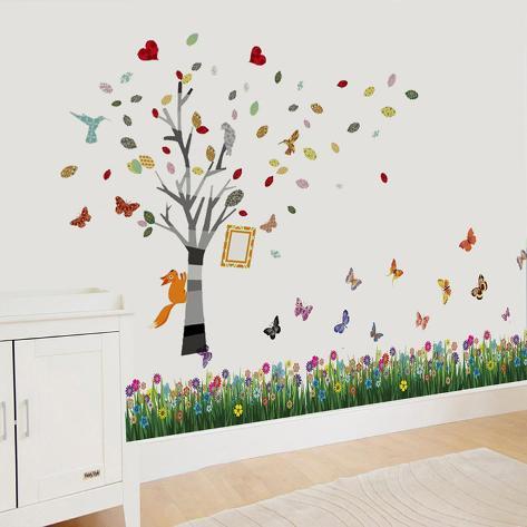 Photo Tree Grass Adesivo de parede