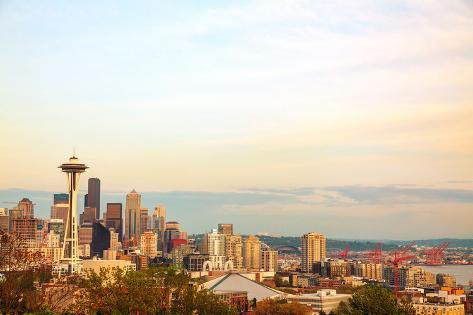Downtown Seattle as Seen from the Kerry Park Photographic Print