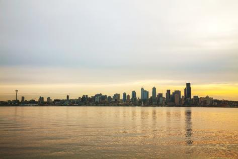 Downtown Seattle Cityscape in the Morning Photographic Print