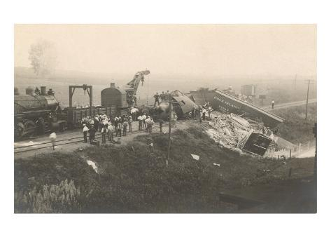 Photograph of Train Wreck Art Print
