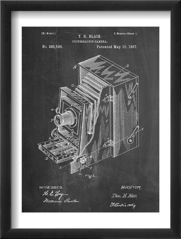 Photographic Camera 1887 Patent Framed Art Print