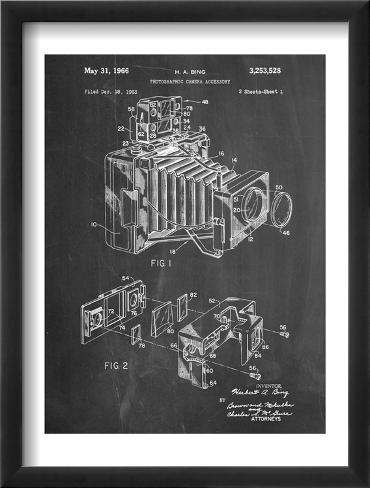 Photographic Camera Accessory Patent Framed Art Print