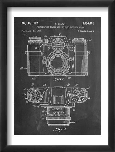 Photographic Camera Patent Framed Art Print