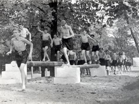Physical Education: Beam Exercise Photographic Print