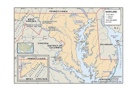 Maryland Physical Map And Maryland Topographic Map Physical Map - Virginia physical map
