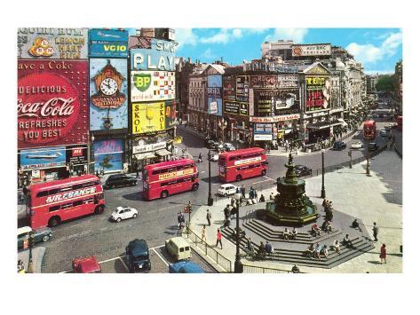 Picadilly Circus, London, England Art Print