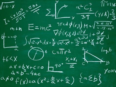 Math Formulas on School Blackboard Education Posters by PicsFive ...