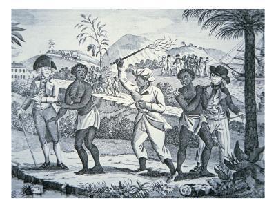 Slave girl whipping
