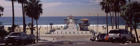 Pier Over An Ocean Manhattan Beach Los Angeles County California Usa