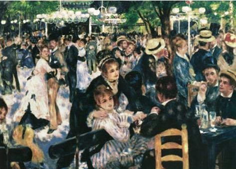 Pierre Auguste Renoir (Ball at the Moulin De La Gallette) Art Poster Print Masterprint
