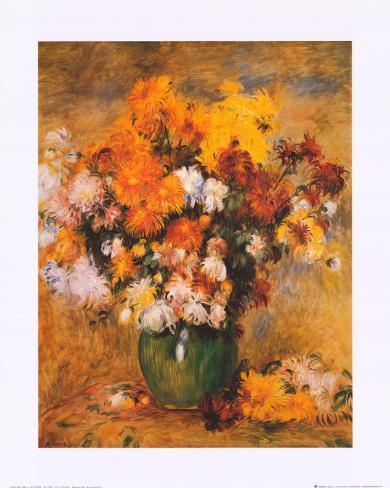 Bouquet of Chrysanthemums Art Print