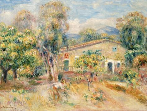 Collettes Farmhouse, Cagnes, 1910 Giclee Print