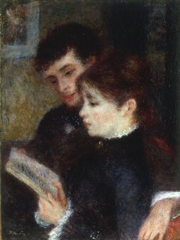 Couple lisant, 1877 Lámina giclée