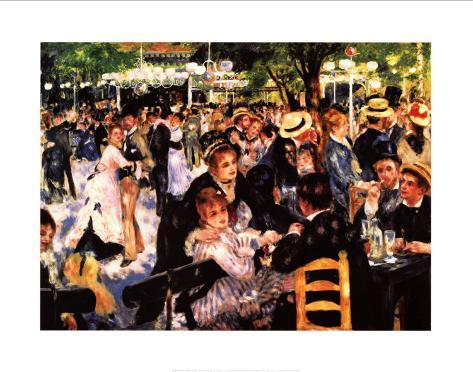 Dancing at the Moulin de la Galette Art Print