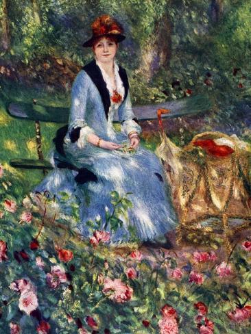 Dans Les Roses, 1882 Impressão giclée
