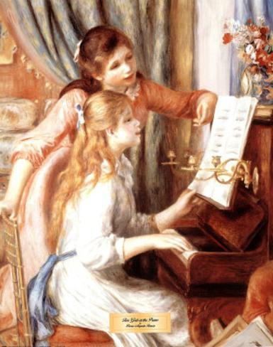 Girls at the Piano Mini Poster