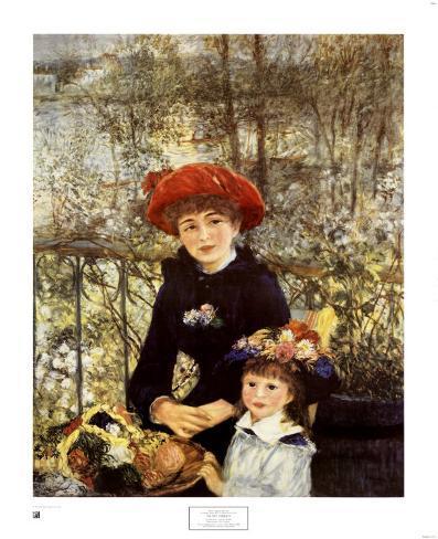 Le due sorelle (Sulla terrazza), 1881 Poster di Pierre-Auguste ...