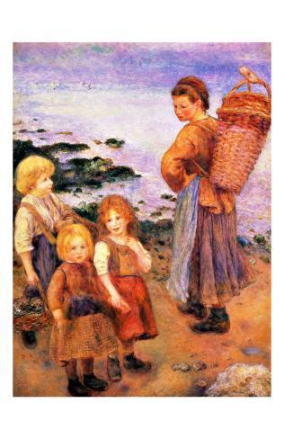 Mussel Fishers of Berneval Giclee Print