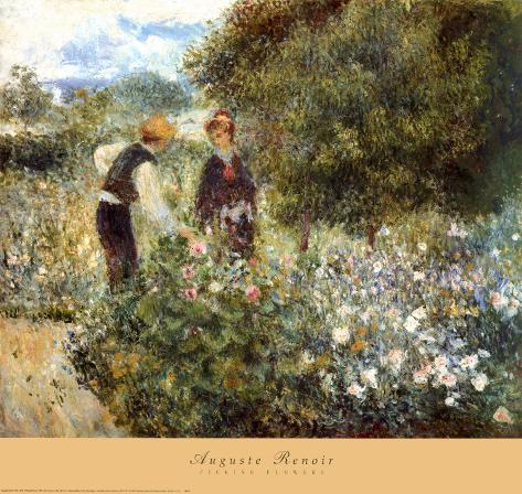 Picking Flowers Lámina