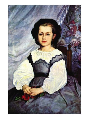 Portrait of Mademoiselle Romaine Lancaux Art Print