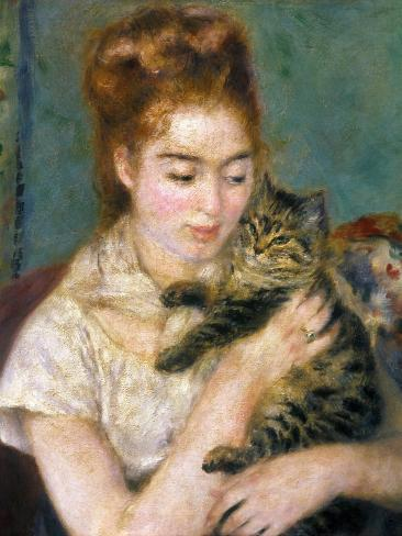 Renoir: Woman With A Cat Giclee Print