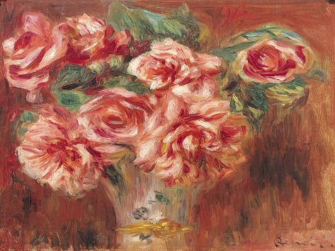 Roses in a Vase, circa 1890 Giclee Print
