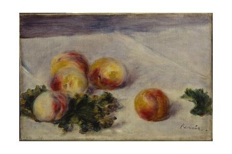 Still Life with Peaches on a Table, C.1890-1918 Giclée-vedos