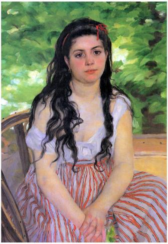 Summertime study by Pierre-Auguste Renoir Giclee Fine ArtPrint Repro on Canvas