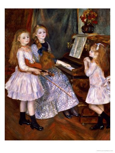 The Daughters of Catulle Mendes at the Piano, 1888 Giclee Print