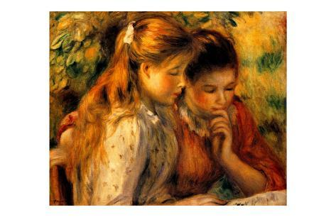 Two Girls Reading Giclee Print