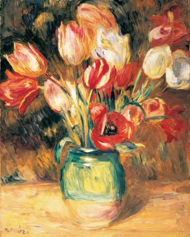 Vase with Tulips Reproducción de lámina sobre lienzo