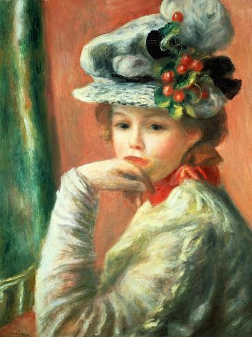 Young Girl in a White Hat Giclee Print