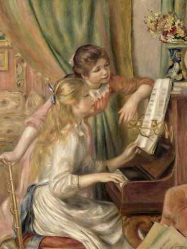 Young Girls at the Piano, 1892 Giclee Print