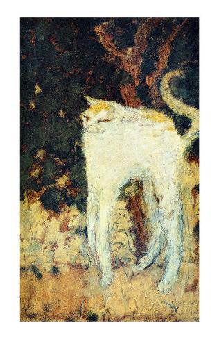 The White Cat Framed Giclee Print