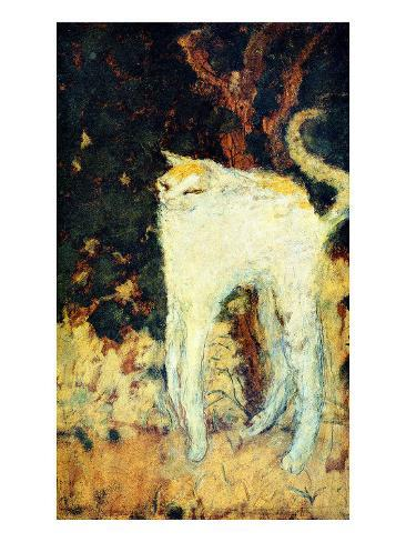 The White Cat Giclee Print