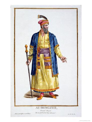 Aurengzeb, Great Khan of the Mongol Hordes from Recuil Des Estampes Giclee Print