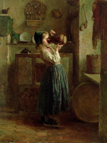 Helping Herself, 1859 Lámina giclée